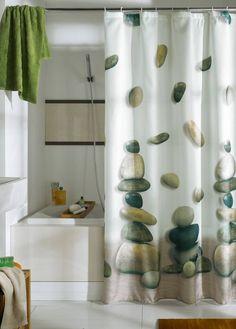 http://www.bebarang.com/unique-long-shower-curtains/ Unique Long Shower Curtains : Unique Shower Curtains Stone Motive