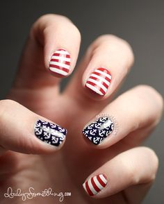 Nautical 4th of July #nail #nails #nailart