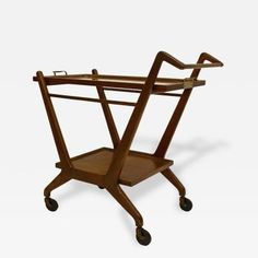 Bar Cart Attributed to Cesare Lacca for Cassina by Cesare  Lacca