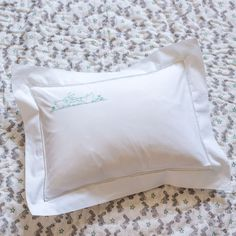 NEW. Our best selling bunnies baby pillowcase now available in aqua. Goes beautifully with our hand blocked aqua bunnies play...