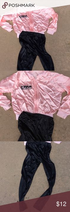 Girls Halloween costume Grease pink lady Some staining on left wrist. Costumes Halloween