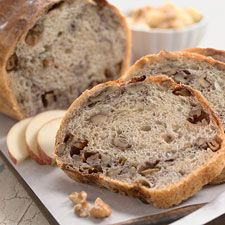 Roasted Apple Bread from King Arthur Flour's website.  This will be a good way to use my Covered Clay Baker from Pampered Chef!  It gives the crust and texture of bread that is baked in a brick oven ... without the brick oven!