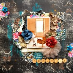 Memories by Dana Tatar -  Berry71Bleu November 2015 Vintage Mood Board Challenge