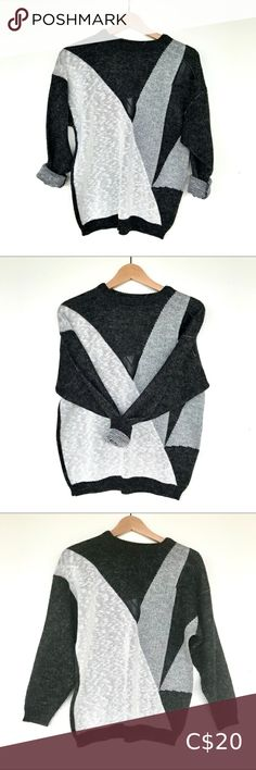"""I just added this listing on Poshmark: 2/$30 Vintage abstract sweater """"leather"""" patch. #shopmycloset #poshmark #fashion #shopping #style #forsale #Vintage #Sweaters"""