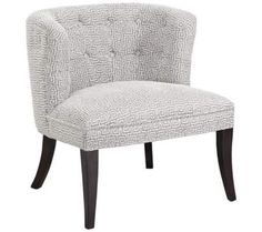Bianca Hermes Chalk Fabric Accent Chair   55DowningStreet.com