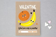Fruity Valentine by Claudia Valenzuela at minted.com