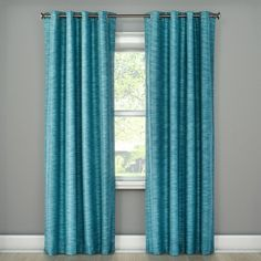 "Tara Stripe Light Blocking Curtain Panel Teal (50""x95"") - Eclipse™ : Target"