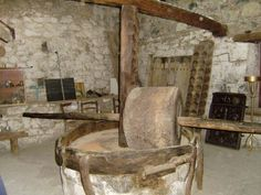 Museum the olice-mill of the Church of Agios Ioannis Prodromos in Agros Cyprus, Greece Painting, Archaeology, Traditional, Chair, Museums, Furniture, News, Home Decor