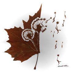 Wonderfully Intricate Cut Leaf Art by Omid Asadi | http://www.123inspiration.com/wonderfully-intricate-cut-leaf-art-by-omid-asadi/