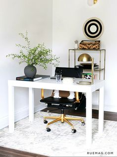 Check out Jeremiah Brent's office design for his management team –with amazing, clever use of Nate's latest collection.