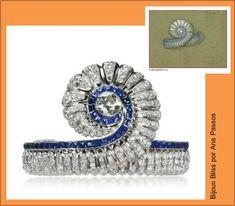 Categoria Design Incrível - pulseira com diamante central em lapidação old mine, 228 diamantes e 76 safiras em platina, de Suzanne Belperron (realizada por Groene et Darde, na primeira metade dos anos 40) - Lily Safra
