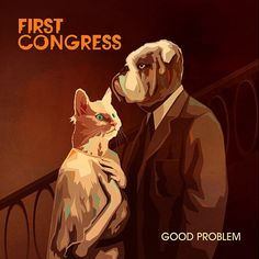 Andy Potts continues his illustration work for the band First Congress with the cover for their second single 'Good Problem'.