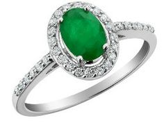 Emerald Ring with Diamonds 4/5 Carat (ctw) in 10K White Gold from MyJewelryBox.com.  Get your rebate from RebateBlast.