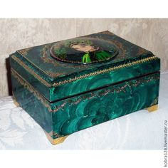 """Купить Шкатулка """"Хозяйка медной горы"""" - зеленый, подарки к праздникам, сувениры и подарки, шкатулки"""