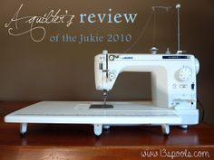 A Quilter's Review of the Juki 2010 by mermamy, via Flickr