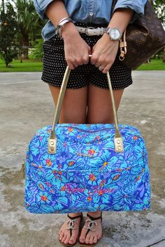 monogrammed Lilly bag! so cute!