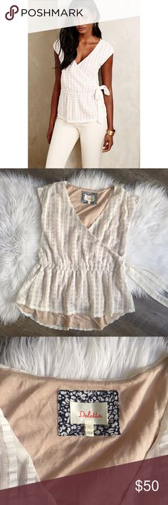 Anthropologie Deletta White Mapelo Blouse 'Mapelo' blouse from Anthropologie brand Deletta. Size small. In great condition. No trades please! 🚫 Anthropologie Tops Blouses
