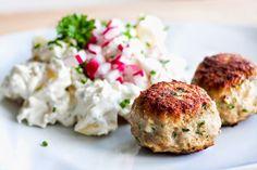 Mad på 4 sal: Forårsfrikadeller m. kold kartoffelsalat