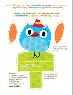DIY Paper Owl Toy
