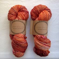 Day Lily Lichen and Lace Hand Dyed Yarn by lichenandlace on Etsy