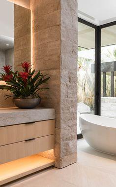 Best Bathroom Designs, Bathroom Interior Design, Contemporary Bathrooms, Modern Bathroom, Modern Powder Rooms, Modern Mountain Home, Building A New Home, New Home Designs, New Homes