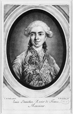Louis-Stanislas-Xavier de France, comte de Provence (1755-1824), future Louis XVIII, third quarter 18th century by Louis-Michel Van Loo (1701-1771) (Versailles)