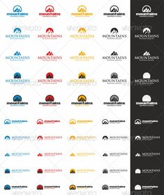 Mountains Peak Logo Templates
