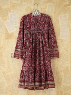 Free People Vintage Printed Boho Dress
