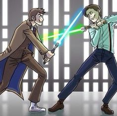 For all things Doctor Who, Torchwood and related wibbly wobbly timey-wimey . Saga, Doctor Who Fan Art, Fandom Crossover, 11th Doctor, Fandoms, Cinema, Torchwood, Geronimo, David Tennant