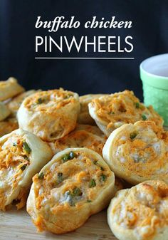 Spice up your appetizer table with Buffalo Chicken Pinwheels! Crescent rolls make this cheesy party recipe so easy to make for game day.