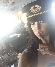 Naughty Pilot Flying From Heathrow To New York Let's Ex-P*rn Star In The Cockpit - Likes