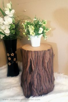 Add some whimsy to your home with this DIY tree stump stool. All you need is a 5…