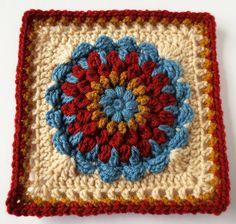 Ravelry: Floral Dimension Afghan Square by Laurie Dale