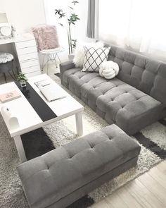 おしゃれな大人女子の一人暮らし♪海外みたいな「1LDKインテリア」特集 | folk Fashion Room, My Room, Room Inspiration, Couch, Living Room, Interior, Furniture, Room Style, Home Decor