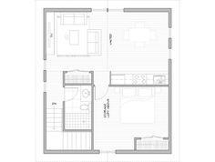 The Sunset Studio - Main Level Garage Studio, Barn Garage, Small Floor Plans, Bathroom Floor Plans, Garage Apartments, Passive House, Barndominium, Maine House, House Plans