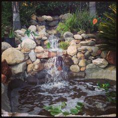 My Backyard waterfall and pond.