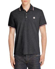 MONCLER Tipped Regular Fit Polo Shirt. #moncler #cloth #shirt