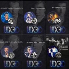 The posters for the 1D3D movie