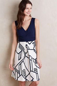Love the cut and style on the top. I think a better fabric for the skirt would look better. Love the navy blue and white. Ardmore Dress - anthropologie.com