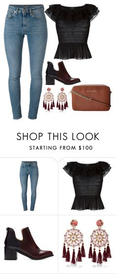 """Untitled #10888"" by beatrizibelo ❤ liked on Polyvore featuring Yves Saint Laurent, Alexander McQueen, Zara, Mercedes Salazar and Michael Kors"