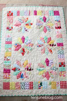 Ten June: Little Lady June's Custom Vintage Inspired Nursery Quilt