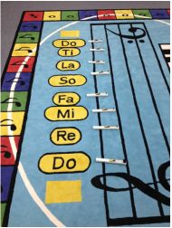 Over the River and Through the Wood lesson with solfege and hand chimes. I love that carpet Classroom Carpets, Music Classroom, Classroom Ideas, Music Activities, Music Games, Sight Singing, Over The River, Elementary Music, Teaching Music