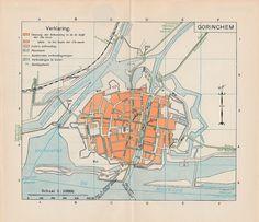 Gorinchem Stadsplattegrond 1917 ANWB - Plattegrond | by Barry van Baalen