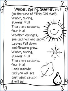 Seasons song: More
