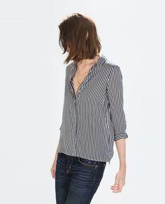 ZARA - WOMAN - STRIPED SHIRT $49.90