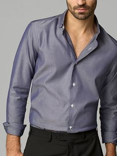 SLIM-FIT STRUCTURED PATTERNED SHIRT - Massimo Dutti
