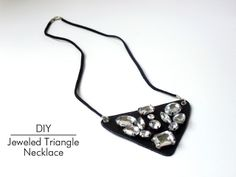 DIY Jeweled Triangle Necklace