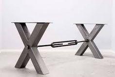 tafel met stalen onderstel kruis - Google zoeken