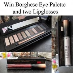 Giveaways : Win Borghese Eye #Palette and two #Lipglosses : Win Borghese Eye Palette and two lipglosses  Since they sent me two sets, one for me and one for you, I thought it would be nice to start giving away the second set! Today starts