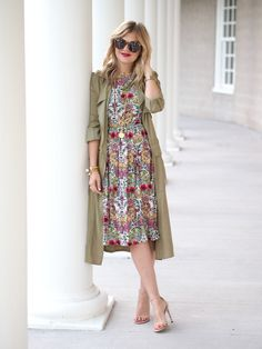 98 Gorgeous Floral Dresses for Autumn - Fashionetter Dressy Outfits, Modest Outfits, Modest Fashion, Summer Outfits, Cute Outfits, Fashion Outfits, Womens Fashion, Apostolic Fashion, Modest Clothing